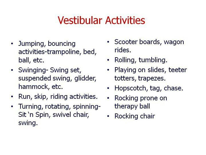 Vestibular Activitiies