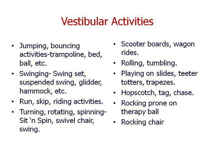 Vestibular Activitiies