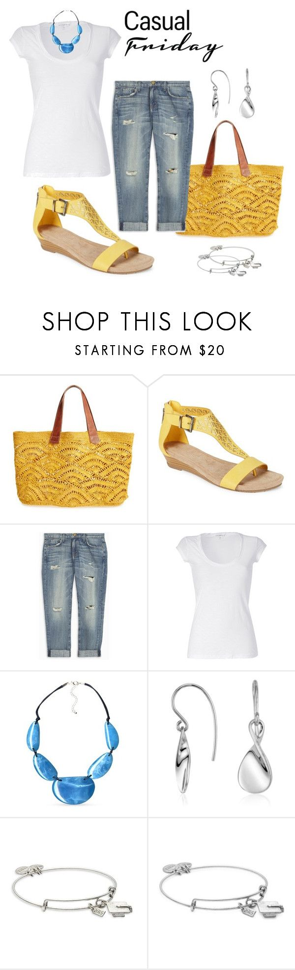 """spring - summer casual"" by citas ❤ liked on Polyvore featuring Mar y Sol, Kenneth Cole Reaction, Current/Elliott, James Perse, Kim Rogers, Blue Nile and Alex and Ani"