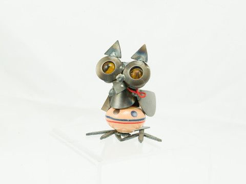 CK Owl Table Top Metal Sculpture – Yardbird- By Rich Kolb and his father- Proudly Made in Louisville, KY--Merry Goldfinch Online