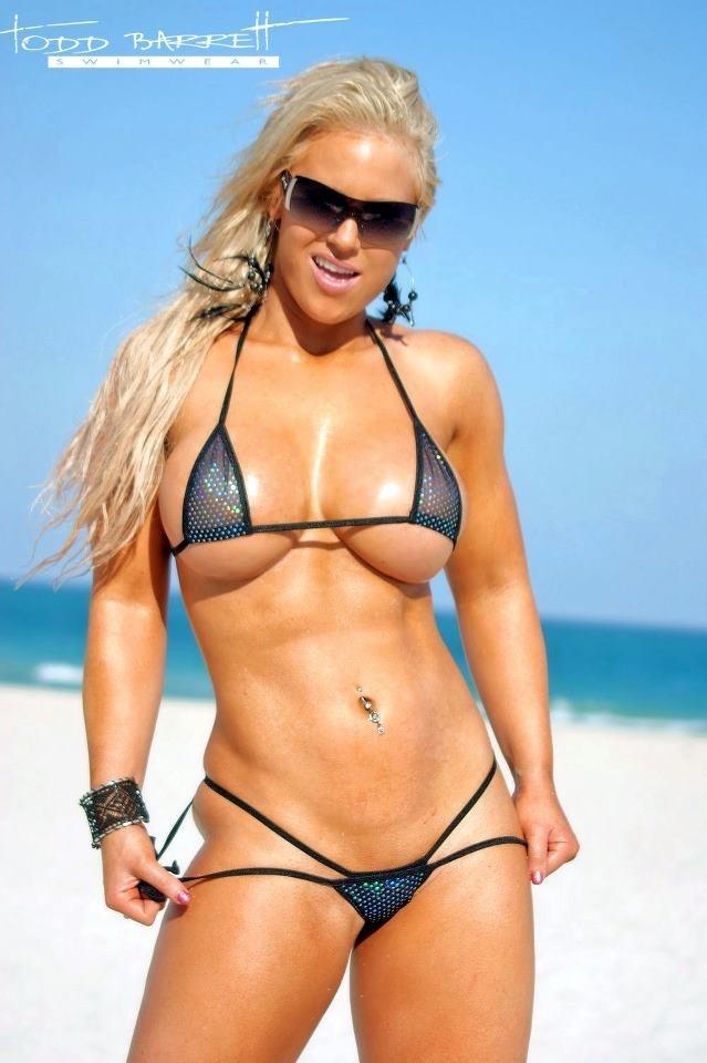 Megan Avalon Hotmusclebarbie In Tiny Bikini Hardbody