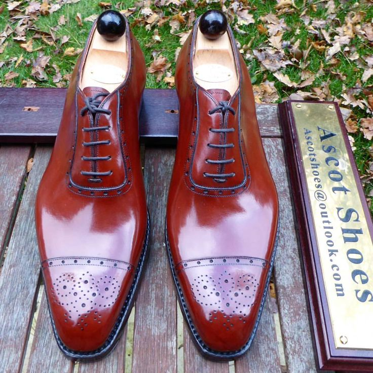 Ascot Shoes — The Oxford Medallion made on the K last with a...