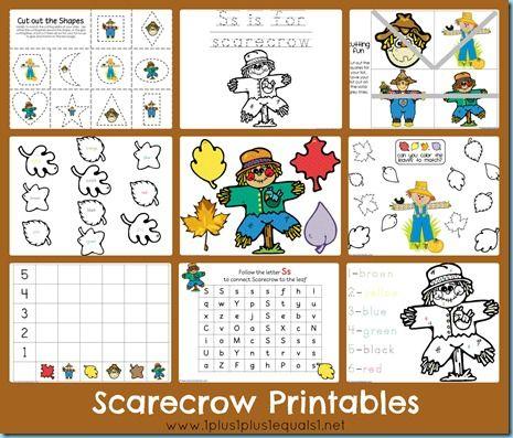 """Free Scarecrow Printables ~ Based on the books """"The Falling Leaves and the Scarecrow"""" and """"The Little Scarecrow Boy"""""""