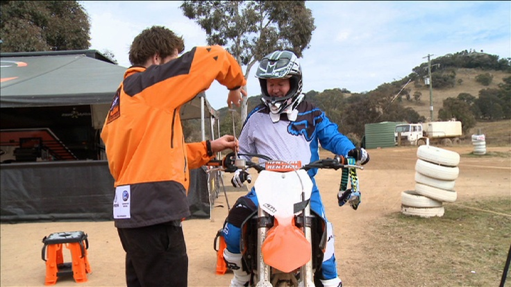 Belly about to hit the track at the KTM SX-F launch. www.ktm.com.au