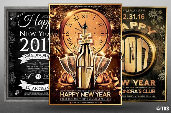 New Year Flyer Bundle by Thats Design Store on @creativemarket