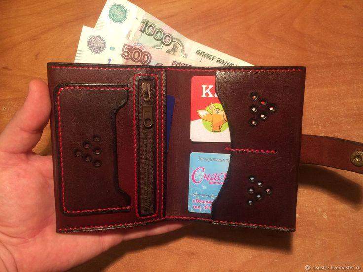 Портмоне для денег и карточек – купить или заказать в интернет-магазине на Ярмарке Мастеров | Портмоне для денег и карточек.<br /> С левой…