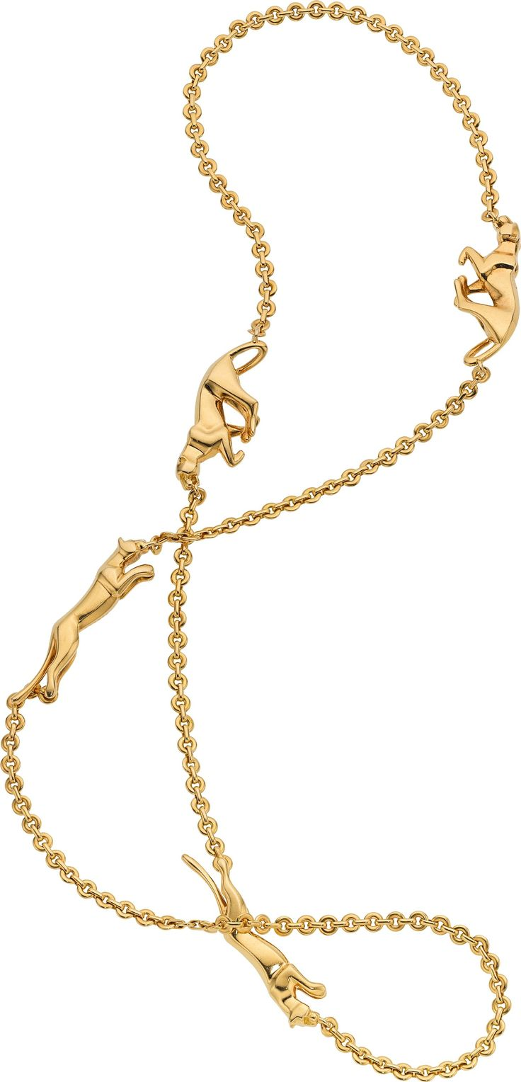 Gold Necklace Cartier The 18k Gold Panthere De Cartier Necklace Gold Necklace Jewelry Monogram Necklace