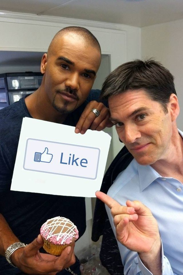 Morgan & Hotch, Criminal Minds. I love to see hotches funny side ❤