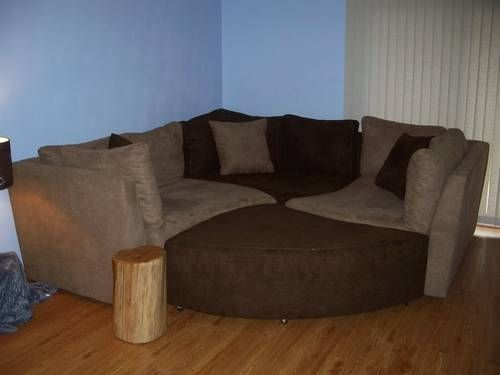 Puzzle Piece Sectional Sofamart Jig Saw Couch With Ottoman And Lots Of Pillows In Rock Decor Home