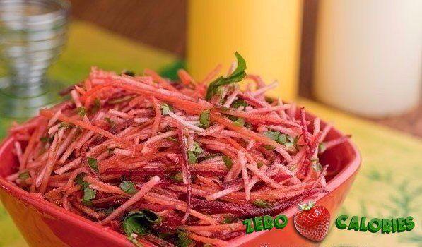 Очень полезный витаминный салат  на 100грамм - 42.2 ккал, Б/Ж/У - 1.33/0.31/8.62