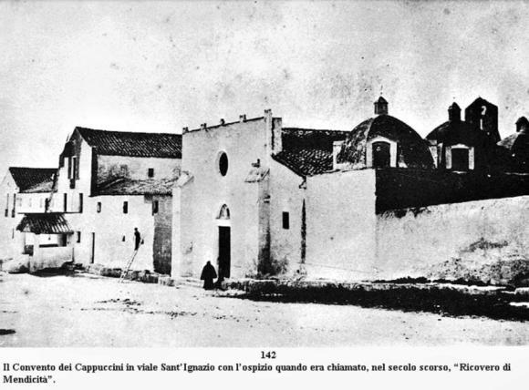 Cagliari, il Convento dei Cappuccini in viale Sant'Ignazio nel 1800