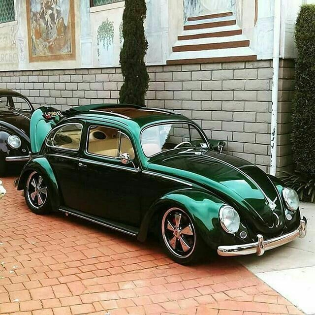 Classic VW - lovin' the green