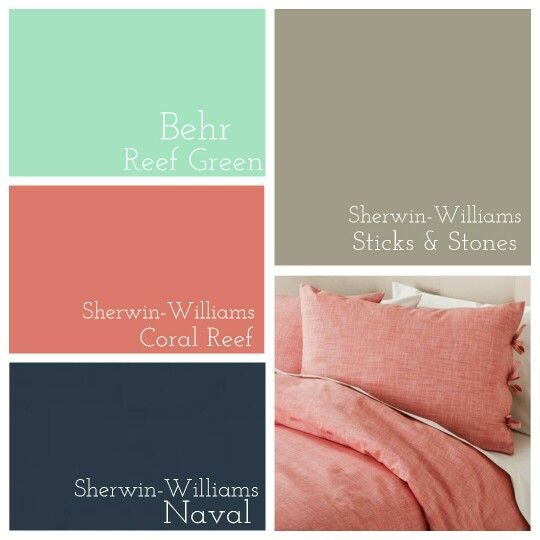 Master Bedroom || Behr Reef Green » Sherwin Williams Coral Reef » Sherwin Williams Naval » Sherwin Williams Sticks and Stones