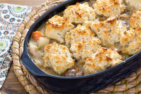 Chicken & Sage Biscuit Pot Pie with Cremini Mushrooms & Purple Top Turnip. Visit http://www.blueapron.com/ to receive the ingredients.
