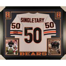 Mike Singletary Framed Autographed Chicago Bears Jersey w/ Insc PSA/DNA COA