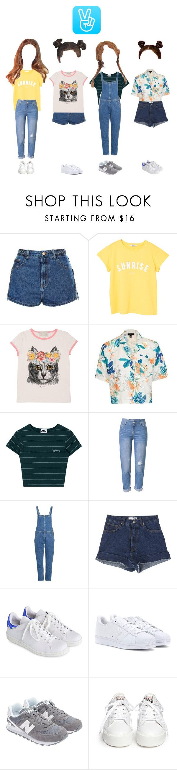 """""""(CDLC) Live on VAPP"""" by cdlc-official ❤ liked on Polyvore featuring Topshop, MANGO, Gucci, WithChic, M.i.h Jeans, StyleNanda, Isabel Marant, adidas Originals, New Balance and Ash"""