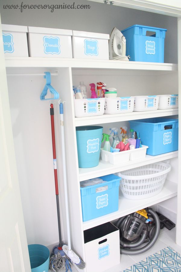 Make laundry and cleaning a wee bit more fun with some cheery organization and storage solutions via forverorganised.com