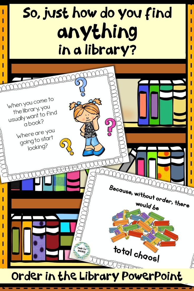 Very child-friendly PowerPoint explaining how libraries are arranged.  An important first step for little patrons.  $