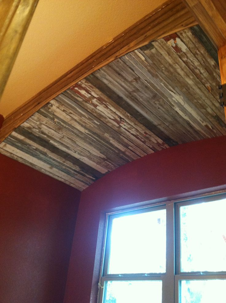 Old Barn Wood Trim In Bath Construction Projects