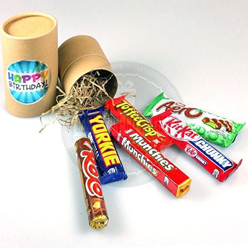 Nestle Chocolate Happy Birthday Tube - By Moreton Gifts - Great Birthday Gift - Rolo, Yorkie, Munchies, Toffee Crisp, Kit Kat and Aero Chocolate Bars Nestlé http://www.amazon.co.uk/dp/B00WTL6JF8/ref=cm_sw_r_pi_dp_26qaxb0HX4S26
