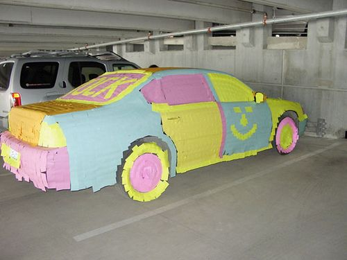 The ultimate office prank!!!! my boss would be so mad if I used all those post-its