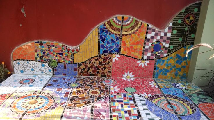 banco  en mosaico