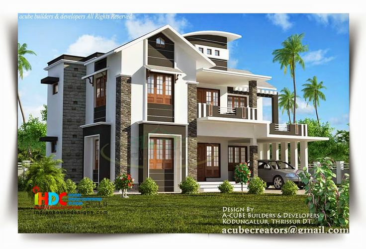 Beautiful indian house design design by a cube builders for The space scape architects thrissur kerala