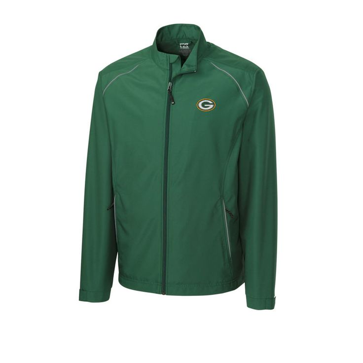 Green Bay Packers Cutter & Buck Big & Tall WeatherTec Beacon Full Zip Jacket - Green