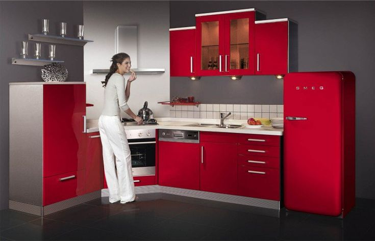 Cuisine Rouge Gris Moderne cuisine rouge et grise Pinterest
