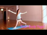 8 Min Total Body Yoga | Do this routine daily to build strength and balance evenly in your entire body! #tara_stiles