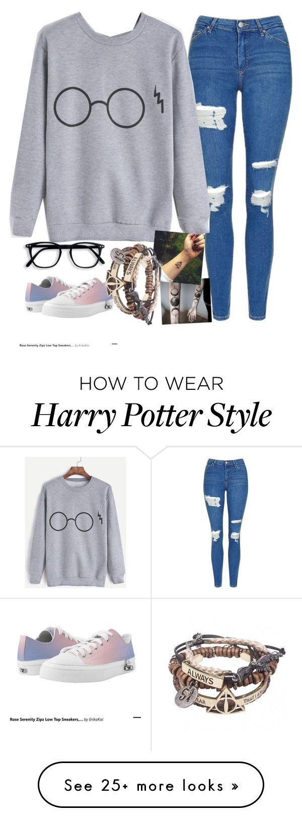 """""""Untitled #1952"""" by tokyoghoul1 on Polyvore featuring Topshop and Zipz"""