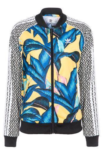 6a1fcf1208f Jaqueta Sst Tt Adidas Originals + Farm - Amarelo