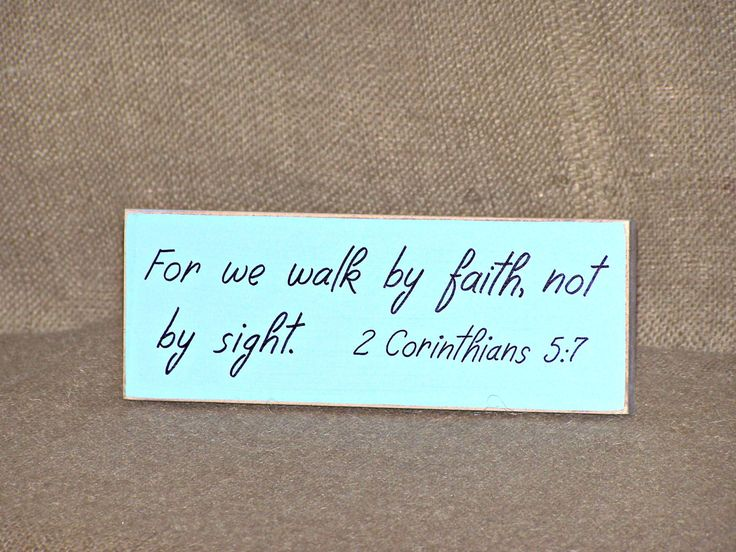 Home Decor, Wood Sign, Country Cottage Distressed, Scripture Quote, Bible Verse, 2 Corinthians 5 7, Walk by Faith Christian Religious Plaque by Sawdusted on Etsy