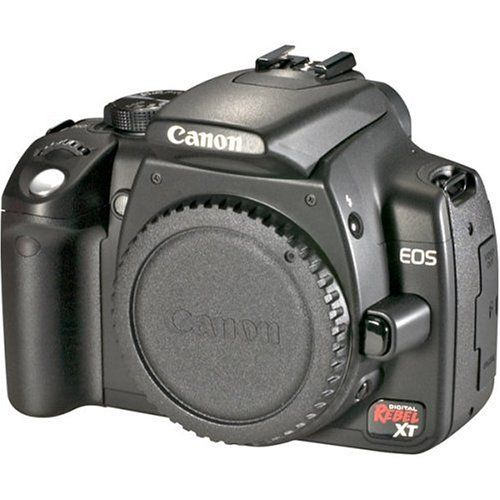 Canon Digital Rebel XT 8MP Digital SLR Camera (Body Only - Black)