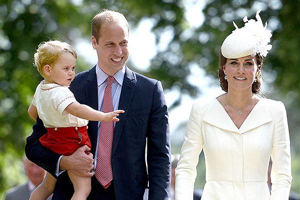 Принц Джордж, принц Уильям и Кейт Миддлтон