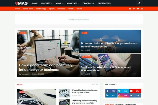 Gmag Blogger Template Free Download In 2020 Magazine Blogger Template Blogger Templates Free Blogger Templates