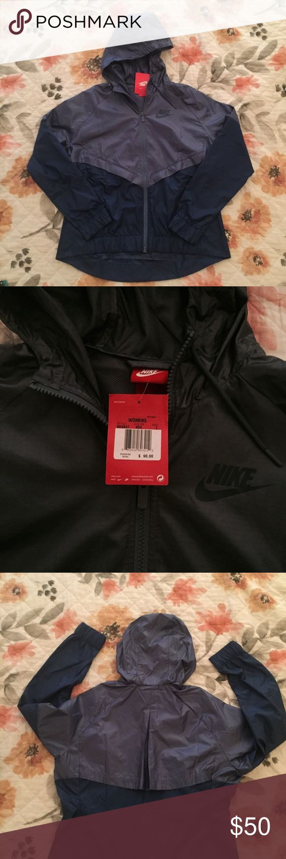 NWT Nike Colorblocked Windrunner Jacket NWT Nike Jacket. Versatile and ventilated, this jacket features a multi-panel scuba hood that zips up to the chin and ribbed cuffs and hem for that snug fit. Mesh lining and vented in the back, this all-conditions jacket maintains excellent airflow no matter where your day takes you. Size Large. Nike Jackets & Coats