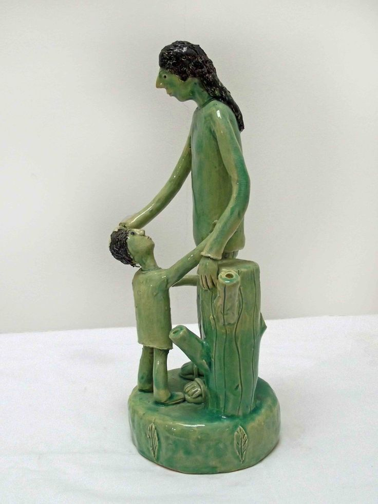 "An original ceramic by Nico Masemolo entitled: ""Mother and Child."" ceramic. #Ceramic #FineArt #NicoMasemolo #MotherAndChild #Mother #Child #GreenCeramic #Green #Motherhood #SouthAfricanArt #SouthAfricanArtist For more please visit: www.finearts.co.za"
