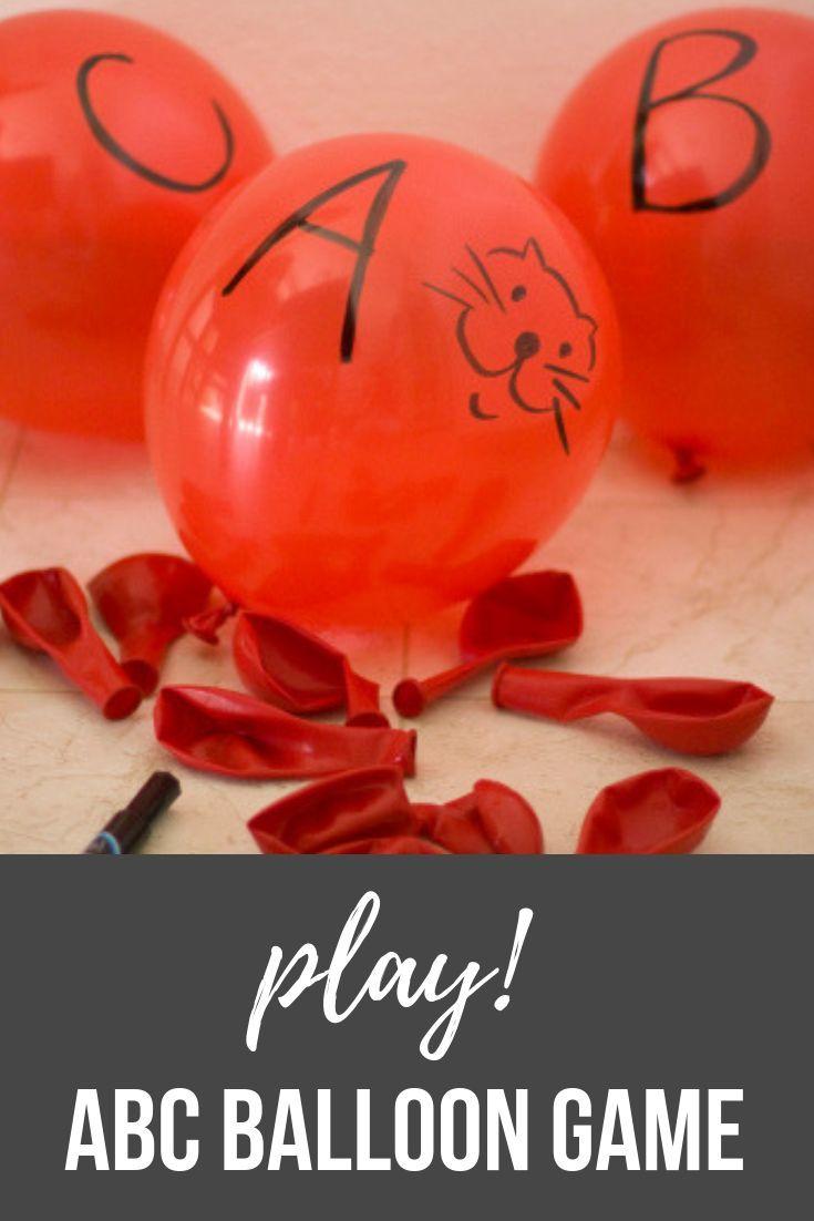 Play An Abc Balloon Game Balloon Games Literacy Games