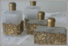 Brocante parfumflesjes, set van twee
