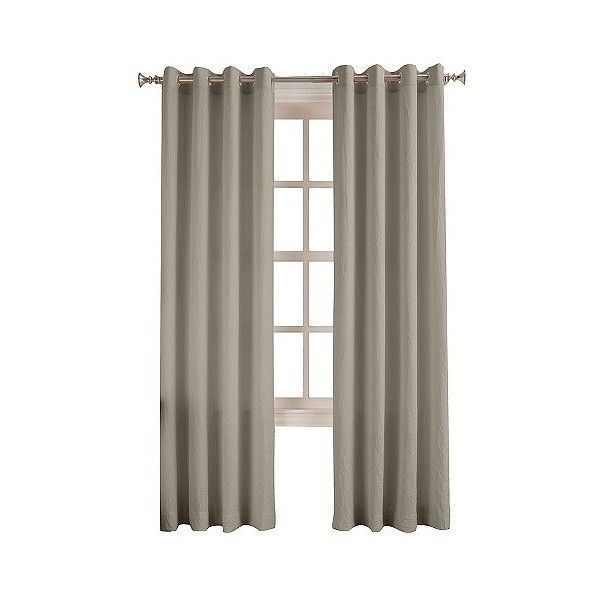 No.  Darrianne Crushed Microfiber Curtain Panel - Silver ($20) ❤ liked on Polyvore featuring home, home decor, window treatments, curtains, silver, silver curtain panels, target curtains, target curtain panels, silver home accessories and silver curtains