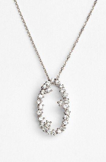 KALAN by Suzanne Kalan 'Starburst' Open Oval Pendant Necklace | Nordstrom