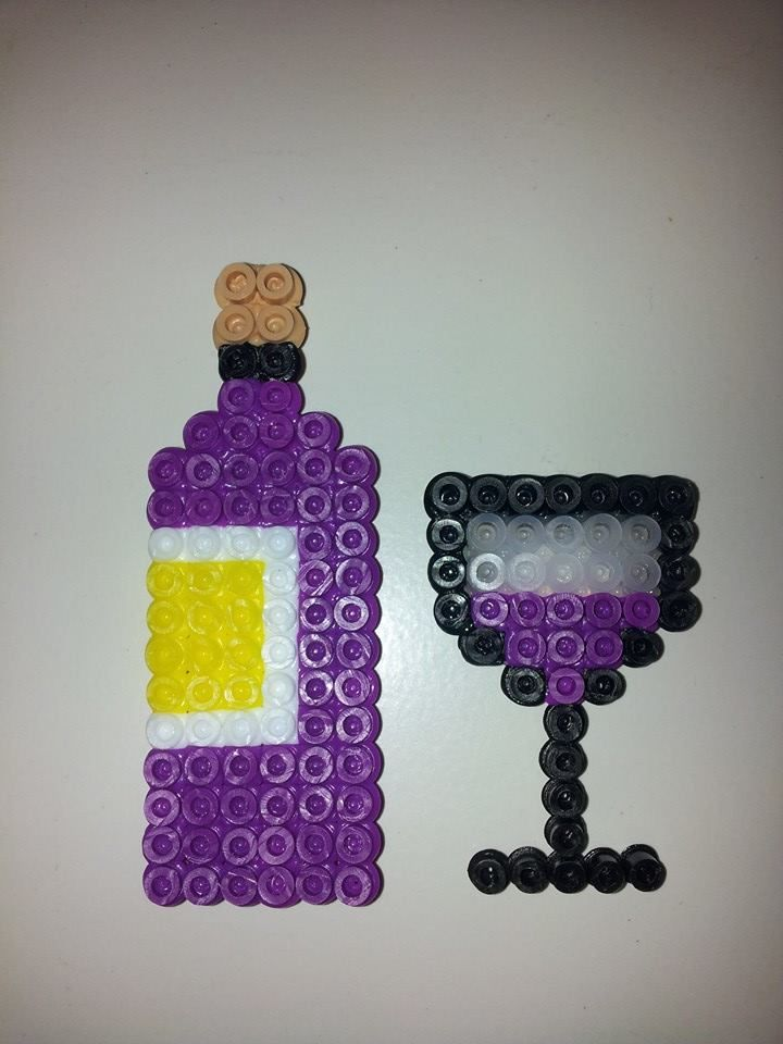 Wine and Glass | Perler | Pinterest | Glasses and Wine