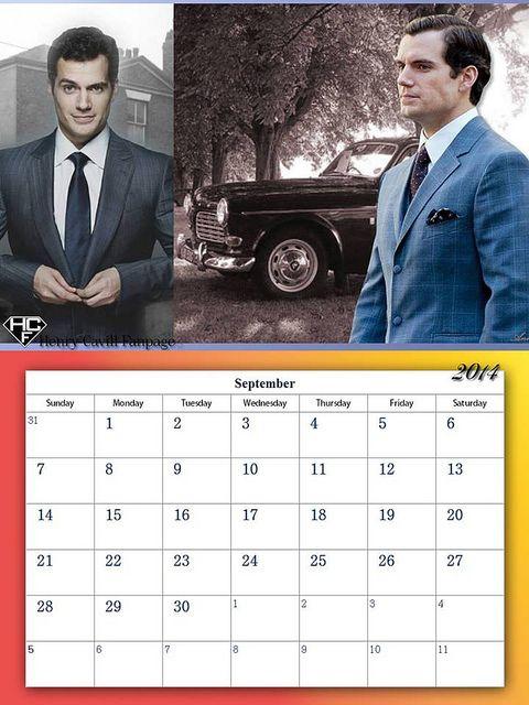 Henry Cavill Fanpage 2014 Calendar - September | Flickr - Photo Sharing!