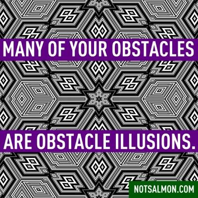 Many of your obstacles are obstacle illusions. #notsalmon