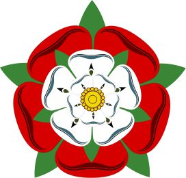 Elizabeth of York marries Henry VII. Both houses are united and the white rose of York and the red rose of Lancaster combine to make the Tudor Rose.