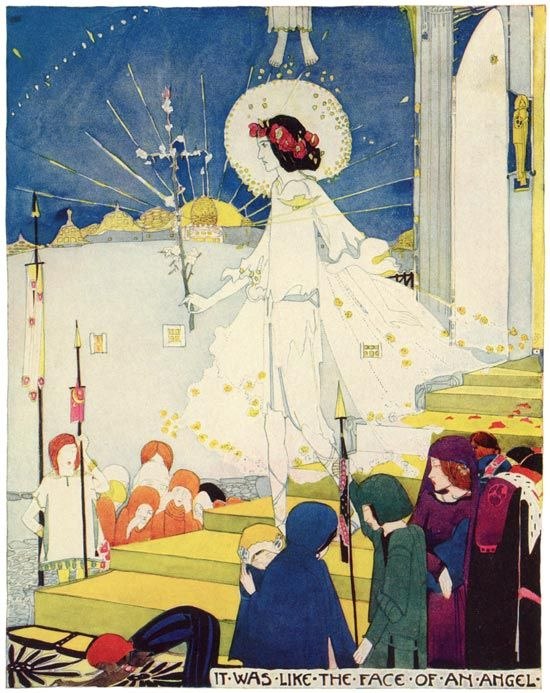 """Jessie M King - 'The Young King'   Oscar Wilde """"A House of Pomegranates""""   Illustrations"""
