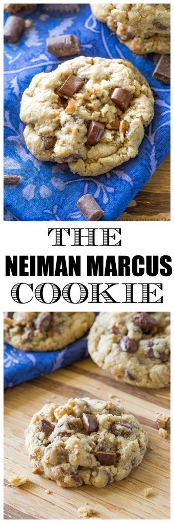 The Neiman Marcus Cookie - blended oats give the cookie a chewy texture with chocolate and nuts! Worth all the hype. the-girl-who-ate-everything.com
