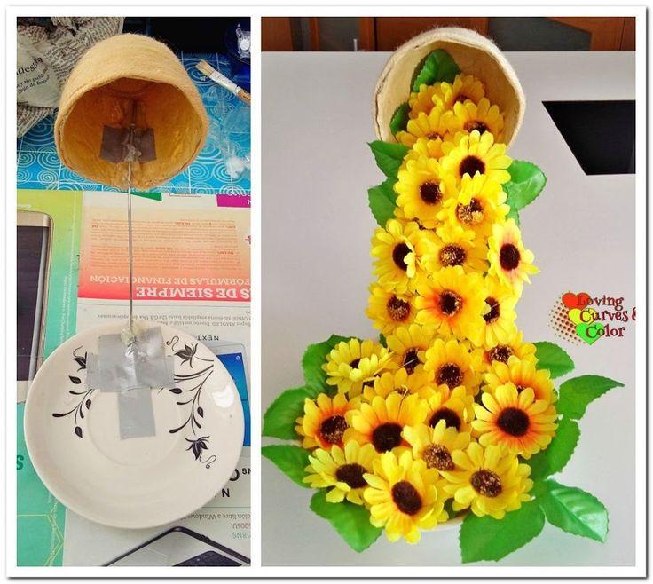 ♥DIY: Cómo hacer una taza flotando con flores.♥