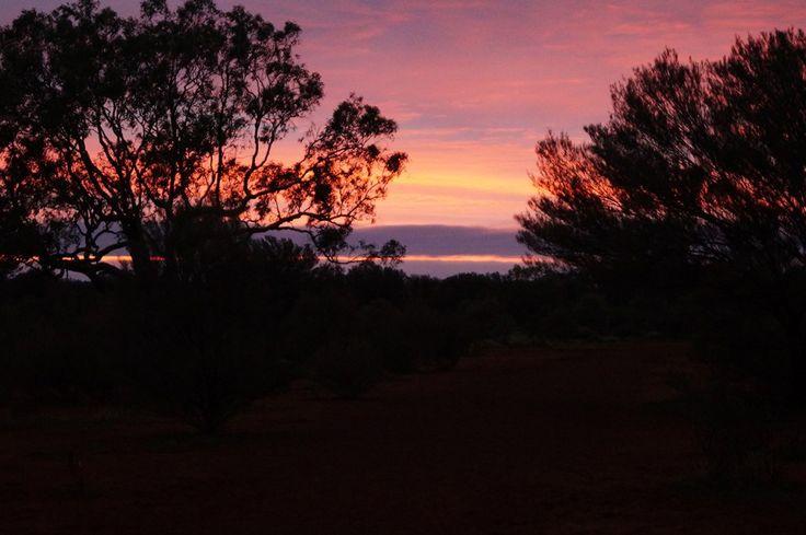 First light at Uluru base walk